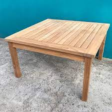 Enjoy a functional outdoor living space with our outdoor coffee table. Solid Teak Wood Large Square Coffee Table Garden Outdoor Furniture Ebay