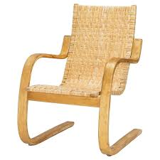 alvar aalto cantilever chair 406 by artek in birch and cane webbing for at 1stdibs