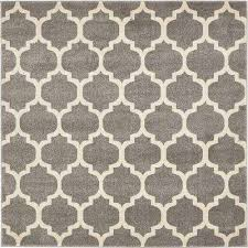 trellis dark gray 6 x 6 square rug