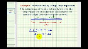 Ex: Find the Length of Two Pieces Cut From a <b>Large</b> Piece Given a ...