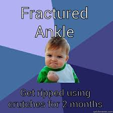 fractured ankle - quickmeme via Relatably.com