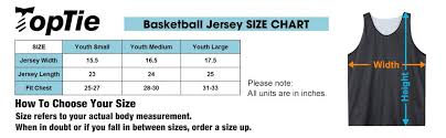 Jersey Size Chart Youth Gogo Team Big Boys Tank Top Reversible Basketball Jerseys