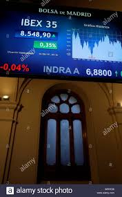 Madrid Spain 16th Aug 2019 A Screen C Displays A Chart