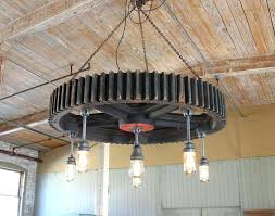 explosion chandelier vintage industrial factory gear wooden pattern chandelier hanging light pendant lamp with cast explosion gold explosion chandelier