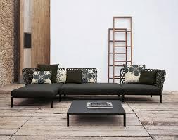 italia sofa furniture chic living area furnishing idea with unique woven black sectional sofa and floral anastasia luxury italian sofa