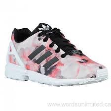 adidas shoes for girls 2017. 2017 adidas originals zx flux - girls\u0027 grade school running shoes black/white/hibiscus print df7420013974 for girls a