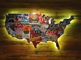 extravagant beer wall art united state photograph by denise mazzocco of america uk can cap box