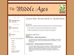 Roman World vs. Feudal World Lesson Plan for 7th - 9th Grade ...