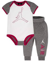Baby Girl Jordan Clothes Delectable Amazon Jordan Baby Girls' 32Piece Air Jordan Bodysuit Pants