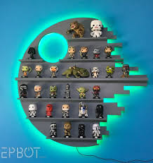 a star wars funko pop collection but you could make one for any kind of star wars figures if you adjust the height of the shelves to fit your figures