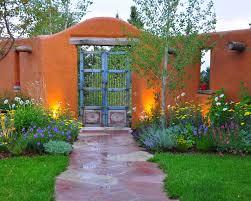 Southwestern Landscape - mediterranean - landscape - denver - Designscapes  Colorado Inc. Wish my garden looked like this - love that gate.
