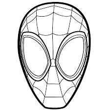 Kleurplaten Spiderman Masker Brekelmansadviesgroep