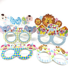 Mask Decorating Supplies 100pcs Circus Paper Glasses Kids Happy Birthday Party Decoration 77