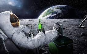 Astronaut Beer Moon Wallpaper Wallpaper ...