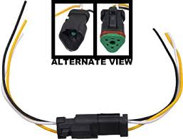 amazon com apdty 133813 3 wire universal weatherproof wiring apdty 133813 3 wire universal weatherproof wiring harness pigtail connector male female kit allows