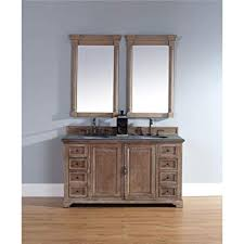 rustic double vanity.  Vanity Providence 60 Driftwood Double Vanity With Absolute Black Rustic Stone Top For