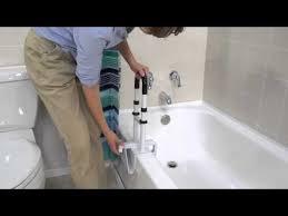adjule height bathtub grab bar safety rail