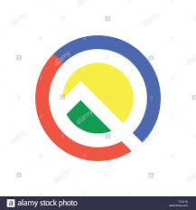 Google Design Style Color Letter Q Logo Icon Design Template Elements Android Q
