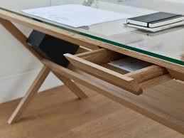 wooden desks for home office. Full Size Of Office Attractive Wood Desk With Glass Top 16 Cool Ideas Home Fb Wooden Desks For D