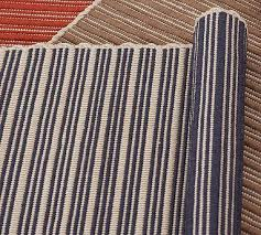 reversible striped indoor outdoor rug blue pottery barn link on view full size
