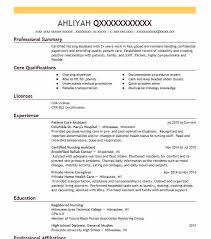 Patient Care Assistant Resume Sample Nursing Resumes Livecareer