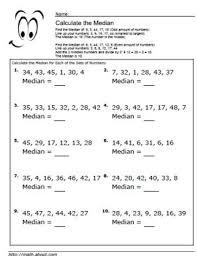 5 Worksheets for Calculating Mean Averages