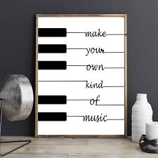 nordic canvas painting quote make your own kind of music black white art poster nursery pictures on make your own wall art quotes on canvas with nordic canvas painting quote make your own kind of music black white