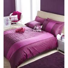double bed purple plum sequin quilt cover set