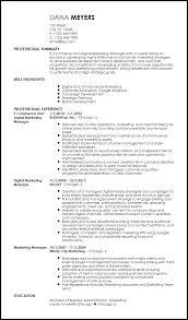 Resume Template Marketing Free Contemporary Marketing Resume Templates Resume Now
