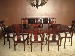 thomasville dining room chairs dining room table w 8 chairs cherry court ii thomasville dining room