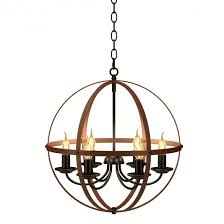 6 lights ceiling lamp industrial style