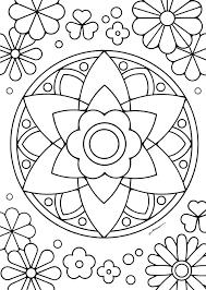 無料ダウンロードぬりえ 29 花マンダラを塗って花セラピスト気分