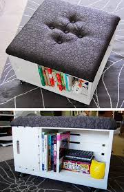 tutorial ottoman with storage ottoman with storage pic for 26 diy living room decor on a budget