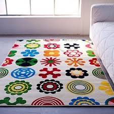 kids room chic childrens bedroom rugs easy to maintain and wash stylish colorfull pattern in cream background ideal for playroom or kids bedroom