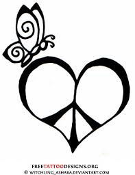 Small Picture Butterfly and peace tattoo design Tattoo ideas Pinterest