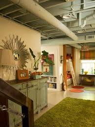 Leaving the ceiling exposed is a budget-savvy design decision. Instead of  installing a