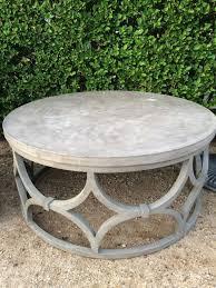 concrete coffee table luxury outdoor concrete round rowan coffee table me gardens