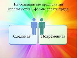Презентация на тему Оплата труда на предприятии  слайда 9 На большинстве предприятий используются 2 формы оплаты труда Сдельная Повре