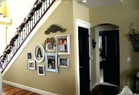 door wall decoration awesome family photo frames wall decor under staircase banister decor plus black interior door wall decoration