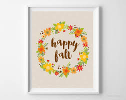 interesting design ideas fall wall decor small home decoration happy art printable fl wreath thanksgiving print decorating diy leaves in love leaf