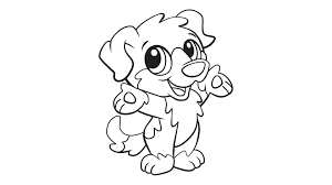 Select from 35429 printable coloring pages of cartoons, animals, nature, bible and many more. Baby Dog Coloring Printable