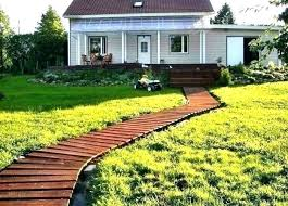 wooden walkway plans ideas full image for curvy garden path roll out uk
