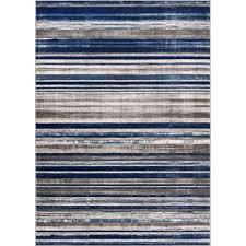 amba signature stripes blue 5 ft x 7 ft modern distressed area rug