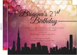 21st birthday invitations s in the city s night invitation