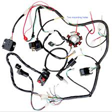 wire loom harness solenoid magneto coil regulator cdi for 250cc wire loom harness solenoid magneto coil regulator cdi for 250cc atv quad tu2