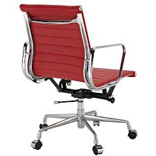 office chair eames. real red leather charles eames era ribbed office chair low back amazoncouk kitchen u0026 home
