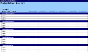Product Comparison Template Excel Free Competitive Matrix Feature Comparison Chart 280 Group