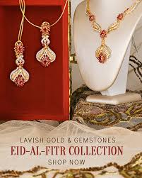 eid jewelry collection in 22k gold precious gemstones