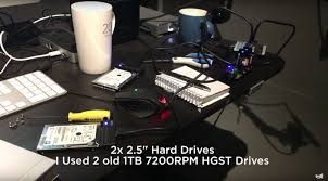 see how caleb pike made a diy editing hub this box is a 3 sd card reader with two hard drives setup in a raid 0 for fast editing