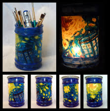 Decorate Jar Candles TARDIS painted glass jarcandle holder by VitriGeek on DeviantArt 52